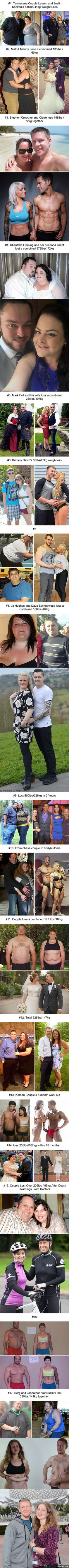 17 Dramatic Before-And-After Photos Of Couples Losing Weight Together