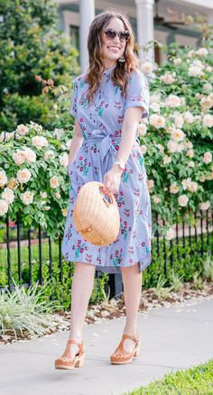 Spring dresses. Anthropologie embroidered shirtdress styled for spring by Houston fashion blogger. #springdresses #embroidery #anthropologie