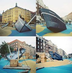 Sinking ship playground by Monstrum | 10 Ridiculously Cool Playgrounds Part 6 - Tinyme Blog