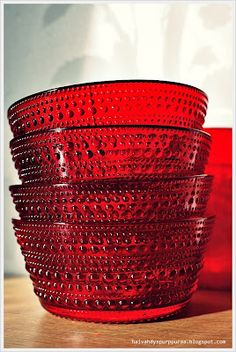 Kastehelmi Nordic Design, Scandinavian Design, Glass Vessel, Glass Art, Red Architecture, Red Bedding, Red Kitchen, Small Furniture, Vintage Dishes