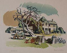 ERNEST W. WATSON (1884-1969) PENCIL SIGNED BLOCK PRINT