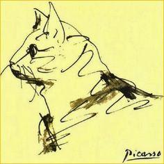 Pablo Picasso: Etude de Chat.