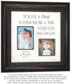 Check out Today a Bride, Father of the Bride Gift, Daughter to Father Gift, Mother of the Bride Gift, Wedding Gift for Mom, 16x16 on photoframeoriginals Thank You Gift For Parents, Wedding Gifts For Parents, Unique Wedding Gifts, Personalized Wedding Gifts, Gifts For Dad, Gift Wedding, Trendy Wedding, Burlap Wedding Decorations, Top Wedding Trends