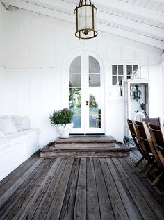 rustic wood floors - mark sikes    http://www.markdsikes.com/2012/05/29/more-white/