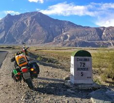 I love milestones.  I love my smartphone that clicks such awesome pictures.  #ladakh #biketrip #instaladakh #mountainpass #digitalnomads #travelblogger #travelIndia #solotravel #solobackpacker #wanderlust #wanderer  #nature #natureshots  #roadtrip #travelphotography #milestone #mountains #sky #sunset #clouds #Kashmir #Landscape #india #ladakhdiaries #hundar #colddesert #desert #camel #oneplus