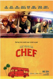 Chef (2014) - LOVED THIS MOVIE ♥ A chef who loses his restaurant job starts up a food truck in an effort to reclaim his creative promise, while piecing back together his estranged family - Written, Produced and Directed by Jon Favreau. Starring Jon Favreau, Robert Downey, Jr., Scarlett Johansson, John Lequizamo, Dustin Hoffman, Sofia  Vergara, Oliver Platt, Bobby Cannavale