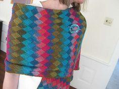 entrelac crochet shawl pattern