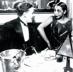 Georges Simenon and Joséphine Baker, La Coupule, Paris, 1925.