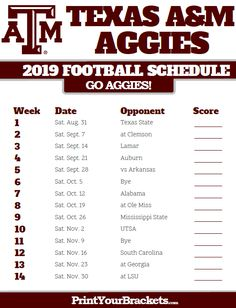 Texas A M Football Schedule 2020.8 Best Texas Football Schedule Images In 2019 Longhorns