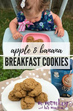 f34f0e4ad Apple   Banana Breakfast Cookies for Tots. - a monkey and his mama Baby  Oatmeal