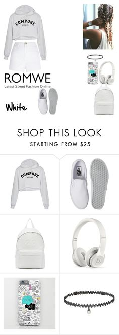 """""""White Tee"""" by raiseethesizzler ❤ liked on Polyvore featuring River Island, Vans, Joshua's, Beats by Dr. Dre and BERRICLE"""