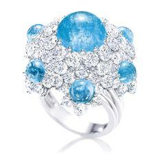Harry Winston's Pariba Tourmaline and diamond ring