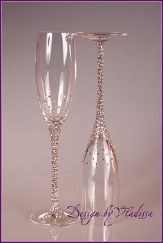 Swarovski Champagne flutes, i feel like i could do this myself