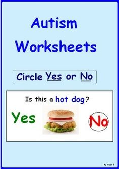 Yes/ No Questions- Autism WorksheetsThis resource is included in the following bundles Autism Worksheets (Bundle) Yes/No Questions BundleThis is a great activity to target basic yes/no questions, good for students with autism and special needs.There are 10 pages to be printed on photo paper and laminated.