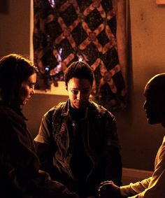 """Maggie, Sasha and Father Gabriel;  Trying to find Peace;  Season 5,  """"Conquer"""""""
