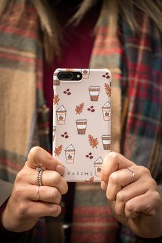 Beautiful phone cases made in Canada with top quality materials! Choose for a variety of designs and discover why these KaseMe phone cases are the best cases in Canada! Available for Apple products (iPhones), Samsung Galaxy, LG, and Google Pixel. Shop protective phone cases today for women and men! Funny Phone Cases, Iphone Cases, Autumn Aesthetic, Coffee Photography, Works With Alexa, Computer Case, Apple Products, Fall Collections, Women Jewelry