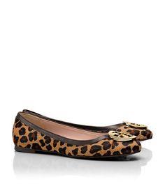 Tory Burch Leopard Print Reva Flat