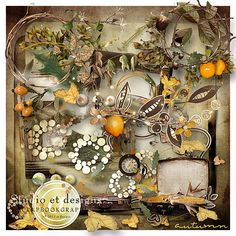 Autumn kit includes$4.72   about 50 different elements 6 different wordarts 12 papers  All is 300dpi  s4h ok