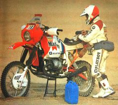 Gaston Rahier, BMW, Dakar Rally, 1985.