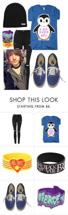 """How I'd Wear Kyle David Hall's New Merch"" by ticci-toby ❤ liked on Polyvore featuring Topshop, Hot Topic, Vans and Neff"