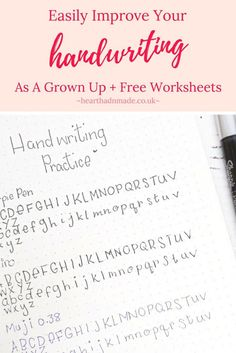 handwriting practice for adults improve handwriting worksheets for alults hand lettering. Black Bedroom Furniture Sets. Home Design Ideas