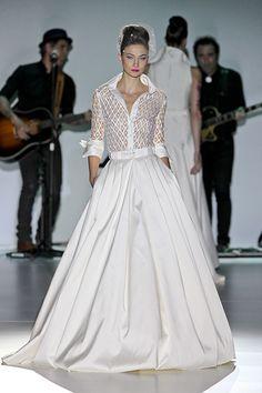 Robes de mariées : focus sur les nouvelles collections printemps-été 2014 - En blanc l'année prochaine - Style - Le Figaro - Madame.