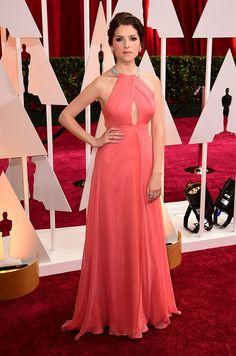 Le tapis rouge des Oscars 2015 Anna Kendrick en Thakoon © Abaca