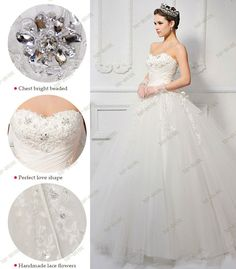 Wedding Dress S613   Ivory Color, back lace up with one rope, size from US2;US4;US6;US8 are in stock, 18PCS Real Swarovski Crystals.  www.top-bride.cn  www.top-bride.com  MSN:top-bride@hotmail.com   Skype: topbride707