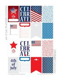 Scrapcraftastic: 4th of July FREE Printable Planner Stickers for The Happy Planner