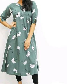 Kurti Sleeves Design, Kurta Neck Design, Sleeves Designs For Dresses, Dress Neck Designs, Stylish Dress Designs, New Kurti Designs, Salwar Designs, Kurta Designs Women, Kurta Patterns