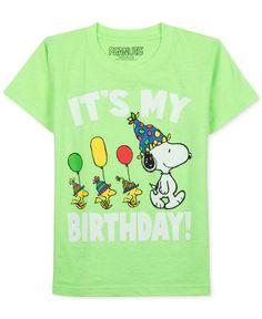 Peanuts Little Boys' Snoopy Birthday T-Shirt