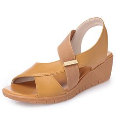 Splicing Slip On Pure Color Casual Wedges Sandals is comfortable to wear. Shop on NewChic to see other cheap women sandals on sale. Sierra Leone, Ghana, Wedge Sandals, Shoes Sandals, Georgia, Loafers Online, Womens Size Chart, Sandals For Sale, Types Of Shoes