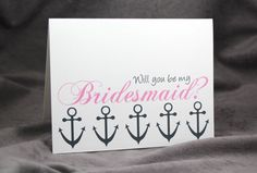 Will You Be My Bridesmaid Card with by patternedpomegranate