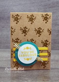 The Stamping Blok - A Whole Lot of Lovely - Rochelle Blok #kraft #gold #bermudabay #daffodildelight #awholelotoflovely #stampinup #rochelleblok