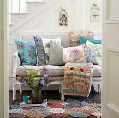 I have a space underneat my stair case like this, I like the idea of extra seating!