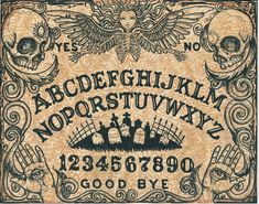 Ouija Board limited edition 16x20 print by ShayneoftheDead on Etsy, $100.00
