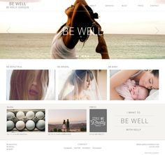 Be Well by Kelly Leveque / Branding / Web Design