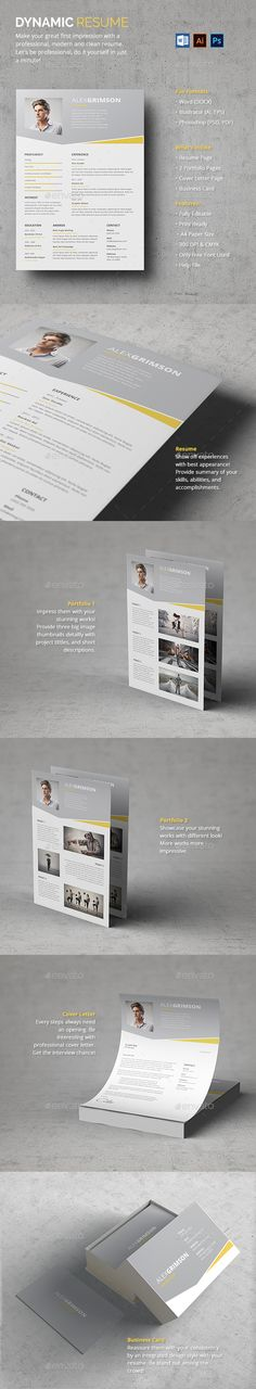 Dynamic Resume Template PSD #design Download: http://graphicriver.net/item/dynamic-resume/13336208?ref=ksioks