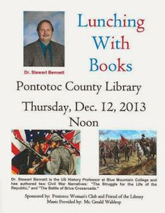 Lunching With Books Thursday, December 12 @ Noon Pontotoc County Library