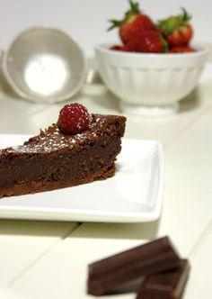 Tarte húmida de chocolate