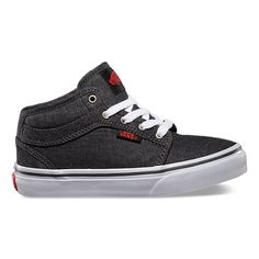 45$ Sizing Notes: FITS TRUE TO SIZEThe Chukka Midtop offers additional performance and support with premium suede and canvas midtop uppers with UltraCush HD for the highest level of impact cushioning, Pro Vulc construction for superior boardfeel, flex and traction, and the Vans original Waffle Outsole.