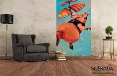 HELI COCHON http://www.scenolia.com/decor-mural-vertical/1281-decor-cochon-bruno-thery.html