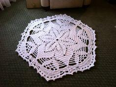 Shabby Chic Flower Crochet Doily Rug - Lisa - Handmade original - by dainamickus on madeit