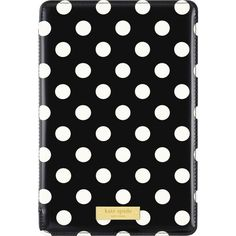 kate spade new york - Folio Hard Case for Apple® iPad® mini, iPad mini 2 and iPad mini 3 - Black/Cream - Front Zoom