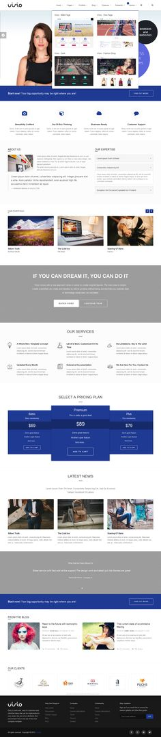 Visio Responsive Multipurpose #Bootstrap Website Theme is not just a template, but a -powerful- tool that is meant to give you access to create the website you want without being limited by the layout or its features. It was created to be customized. #website