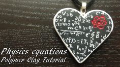 Physics Equations Pendant - Polymer Clay Tutorial by Fimohoekje