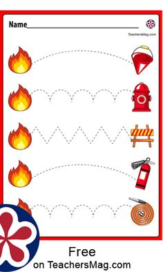 You can help your Pre-K or Kindergarten kiddo learn about fire safety and develop their motor skills with this no-prep worksheet packet! Kindergarten Activities, Preschool Crafts, Earthquake Safety, Fire Safety Week, Fire Prevention Week, Elks, Tracing Worksheets, Motor Skills, Teacher