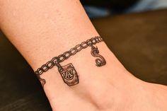 charm tattoo | Charm-Anklet Tattoo
