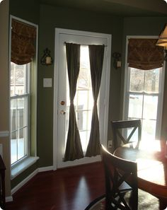 Tutorial For Minimal Sewing Roman Shades And Privacy Curtains A Glass Door Using Magnetic Curtain Rods May Look Good My Front Doors