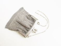 Antique Victorian Mesh Chain Coin Purse by GrandVintageFinery